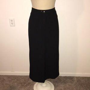 Black Tailored Maxi Skirt Jones New York